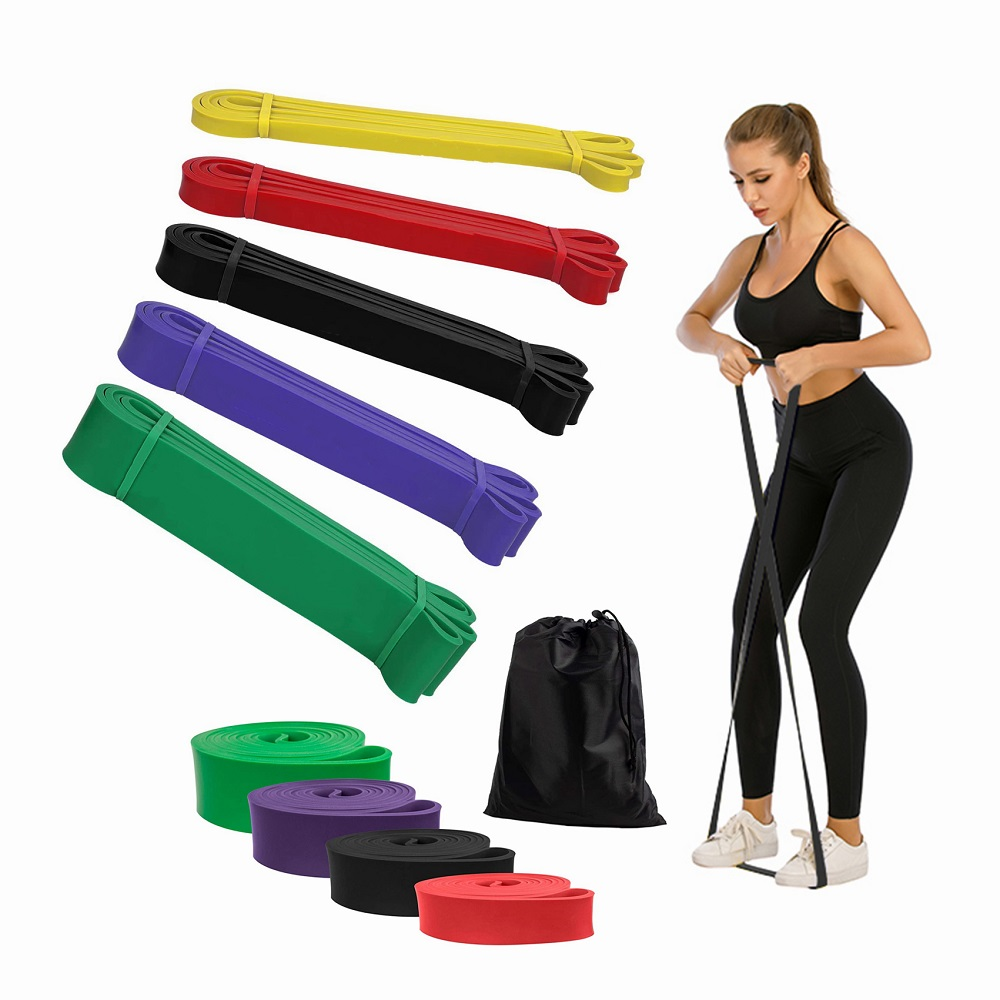 100% Latex Pull up Gym Elastic Resistance Bands/Strength Exercise Assist Bands /Home Exercise Resistance Fitness Band Set