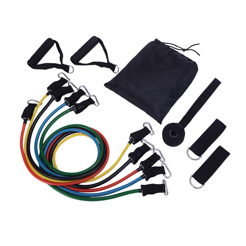 11Pcs Set Muscle Strength Training Resistance Band Home Pull Rope Yoga Exercise Bands Workout Elastic Bands Fitness Equipment