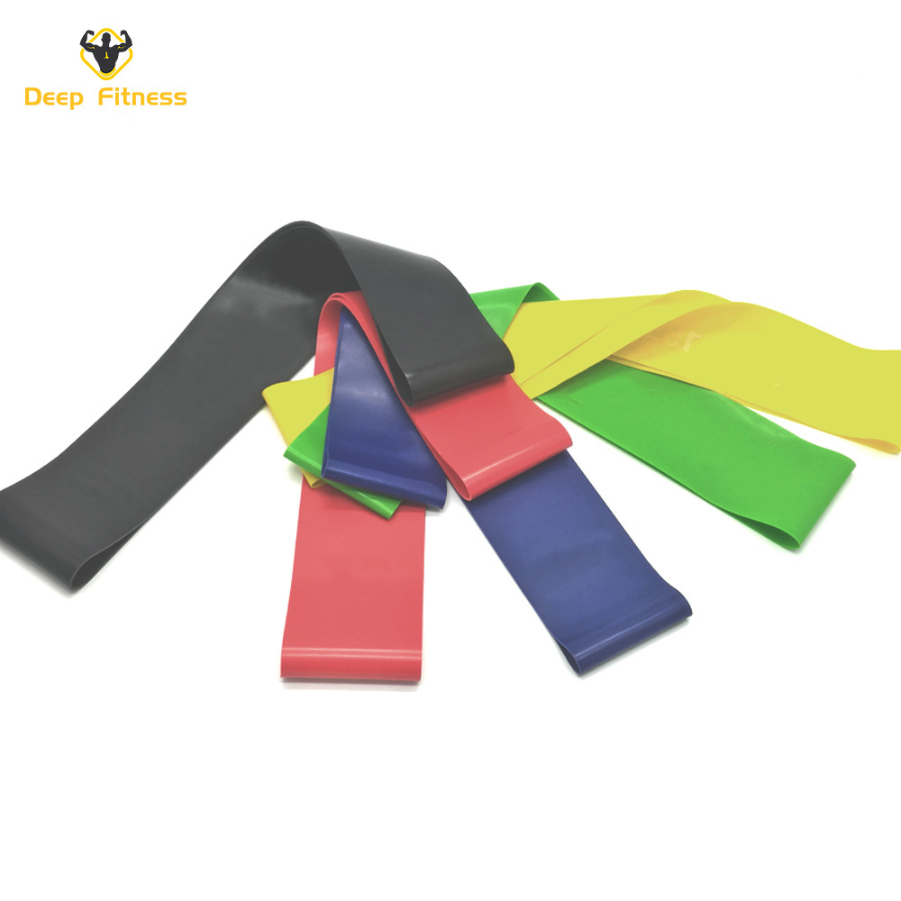 12inch Premium Latex Fitness Exercise Workout 5pcs loop resistance bands set , different types of resistance bands