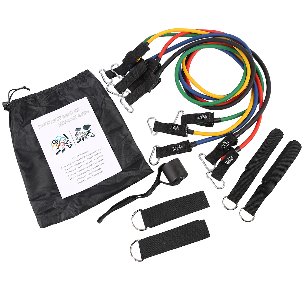 150 lbs Latex Resistance Bands Exercise Bands Resistance Tube Set for Fitness Sports in Home