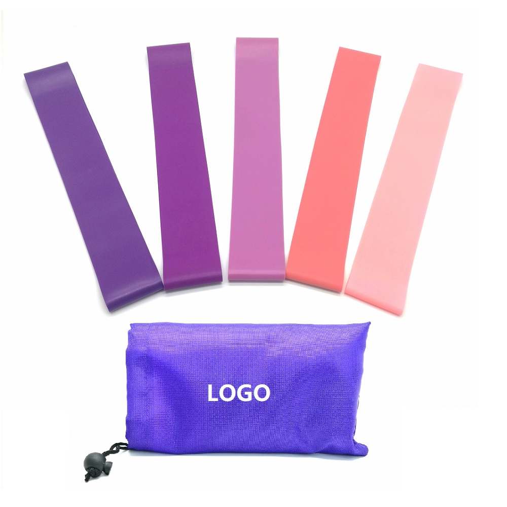 2019 new fitness products custom printed purple fitness resistance loop band / violet elastic resistance band / pink resistance band
