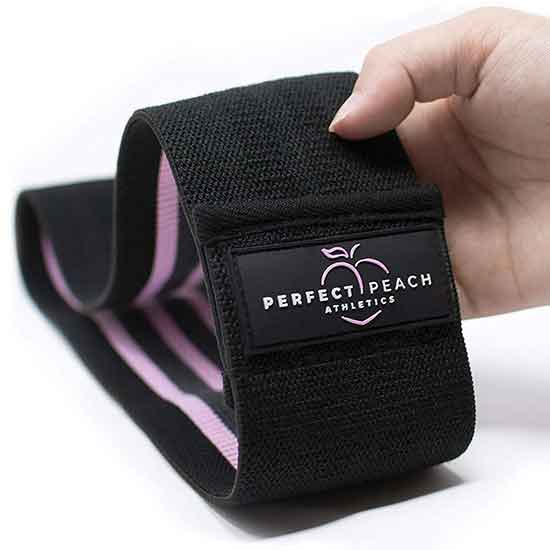 2020 New Design Custom Logo Set of 3 Exercise Stretch Hip Circle, Printed Fabric Booty Band Gym Fitness Glute Resistance Band