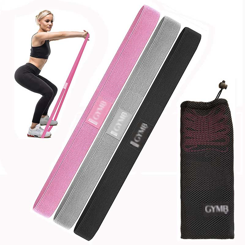 3 Fabric Long Resistance Bands Set, Pull Up Bands, Full Body Workout Bands Resistance for Women Training