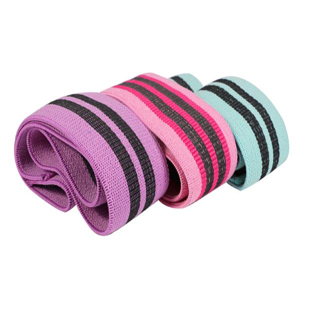 3 Packs Super Elastic Anti Slip Fabric Exercise Resistance Booty band