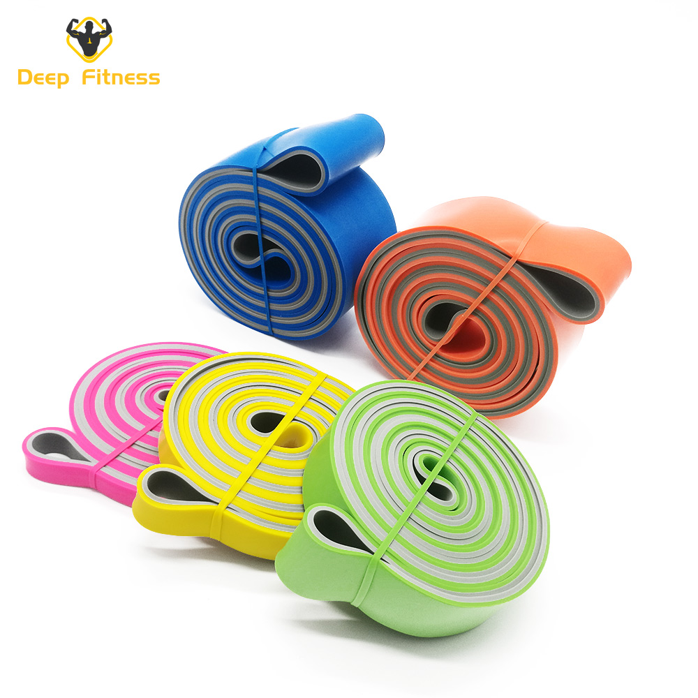 Double color Power bands Resistance Band set