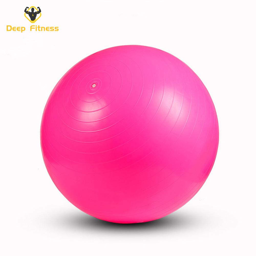 55cm 65cm 75cm Anti Burst Balance Exercise Ball with Pump Fitness GYM Yoga Ball