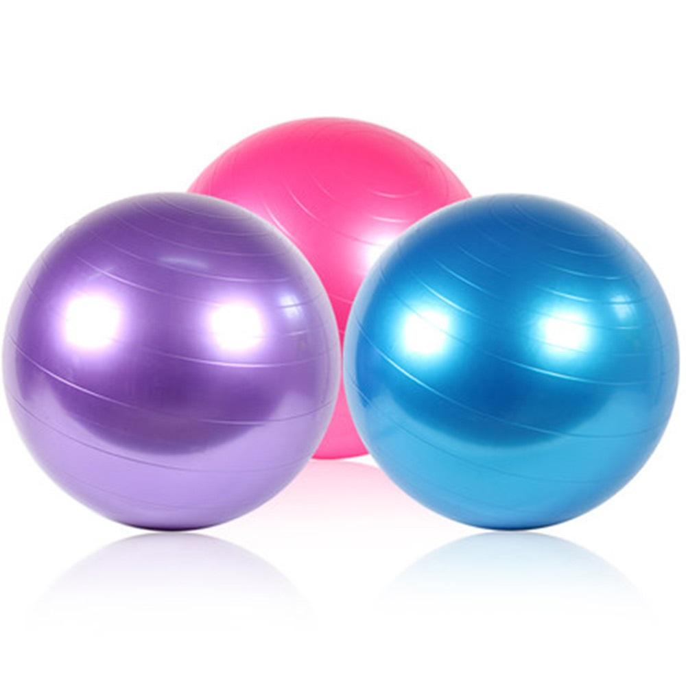55cm 65cm 75cm Fitness yoga ball Inflatable PVC Exercise ball Stability Balance Yoga ball