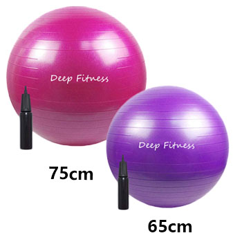 65CM 75cm customized size Stability Exercise Yoga Ball with Air Pump