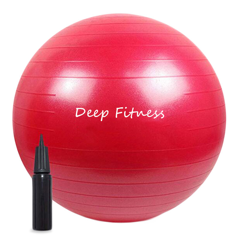 Anti-burst Stability ball Balance Yoga Ball with Custom logo color and pump