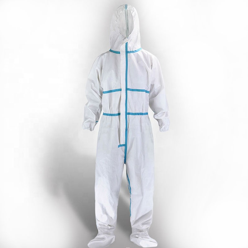 CE certificate medical use Coverall suit /surgical disposable coronavirus protective clothing /waterproof isolation suit