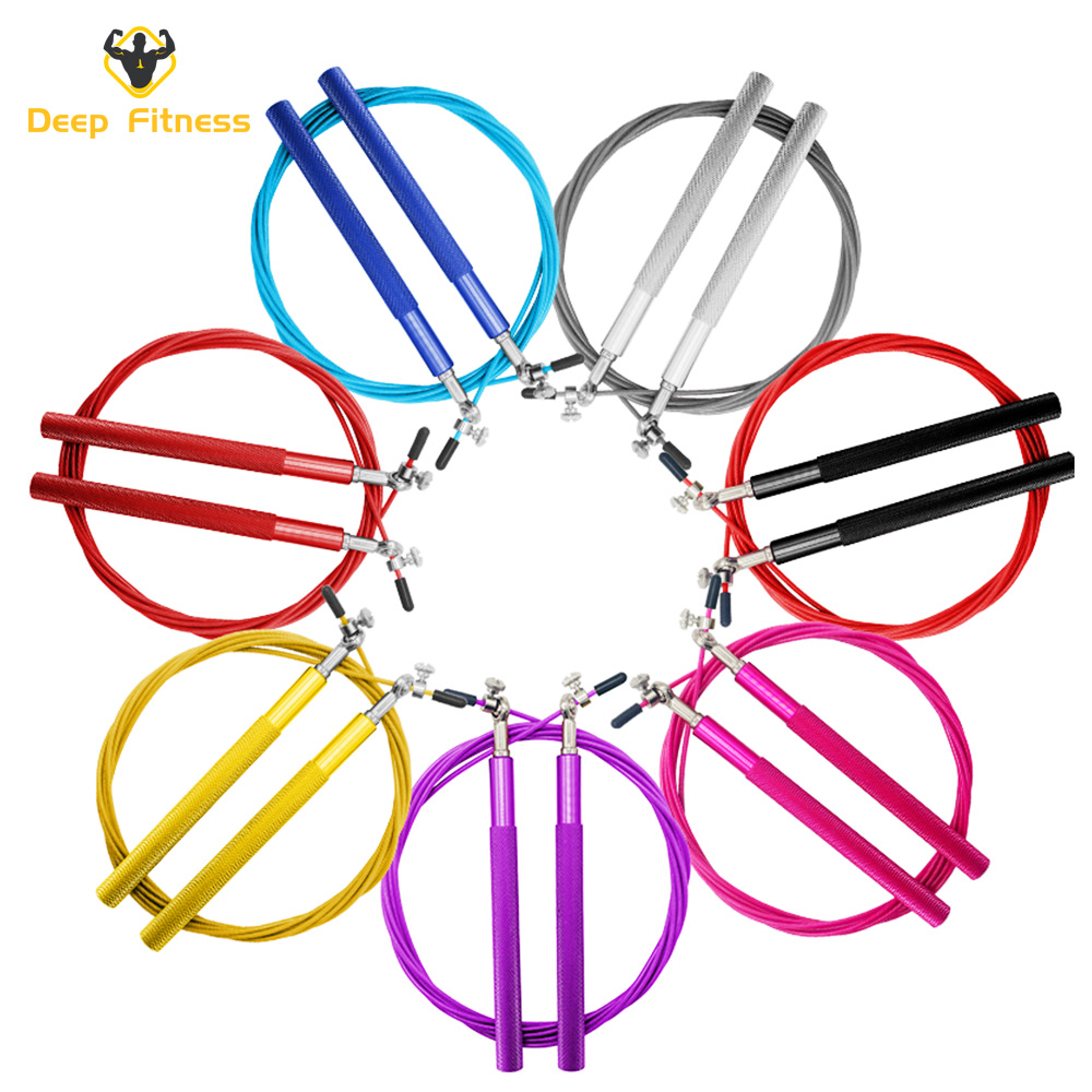 Colorful Aluminum Handle High speed Jump Rope / skipping rope / metal rope skipping
