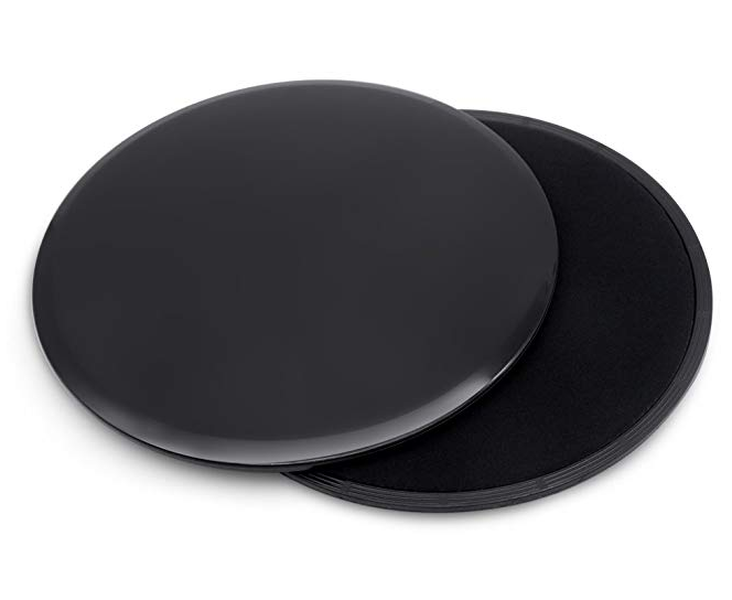 Core Exercise Sliders - 2 Dual Sided Gliding Discs for Carpet & Hardwood Floors, Full Body Workout, Compact for Travel or Home