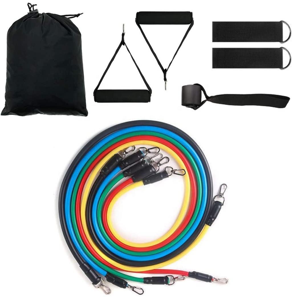 Custom Exercise Sports 11 PCS Tube Resistance Bands Set