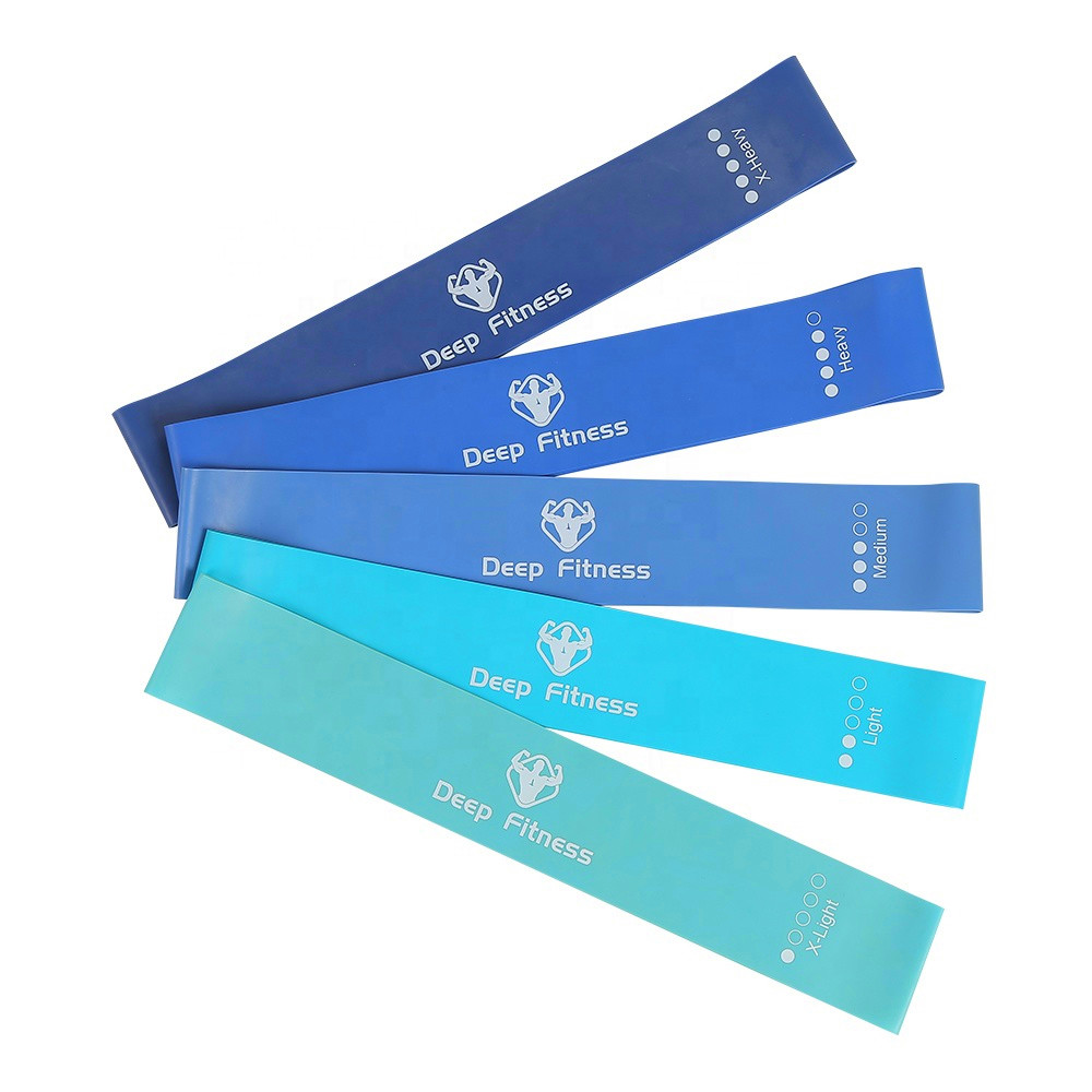 Hot Sale Low MOQ Custom Hip Circle Thick Strength Training Mini Band Yoga Resistance Loop Latex Exercise Bands