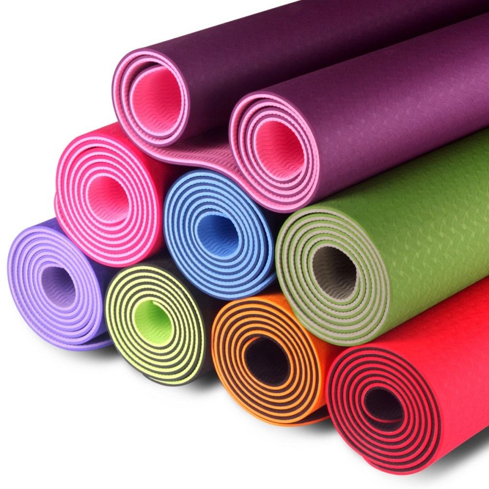 Custom Label Printed NBR Yoga Mat 10mm yoga mats Eco Friendly exercise mat yoga