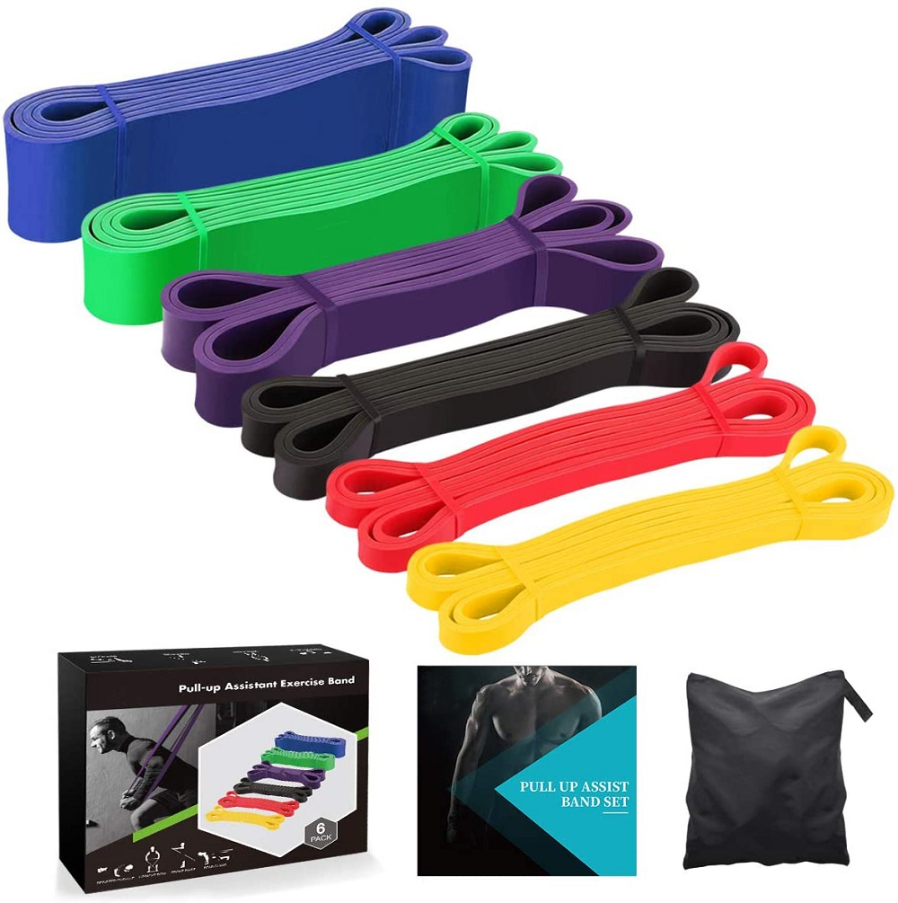 Custom Logo 41inch Latex Pull Up Bands/Weight Lifting Strength Exercise Assist Bands/Power lifting Workout Resistance Bands Set