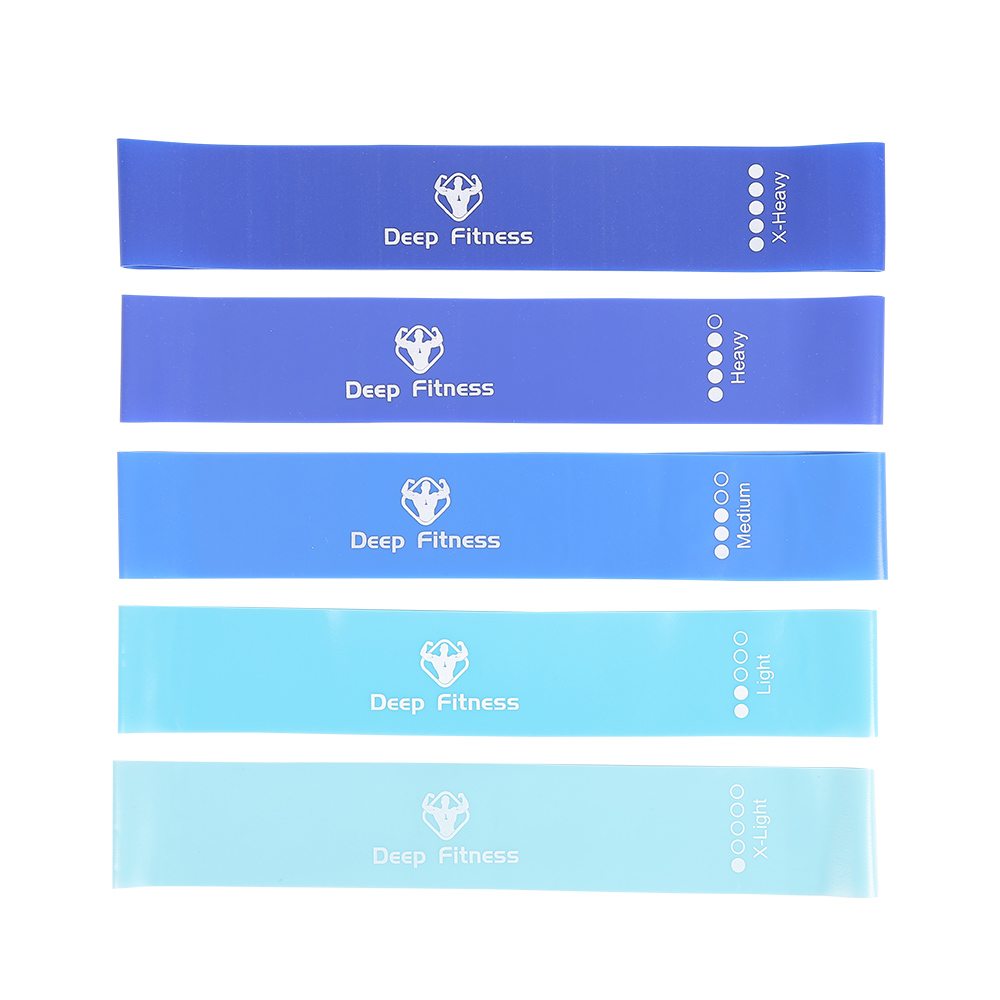 Custom color Eco friendly Exercise Stretch TPE fitness exercise bands, Latex free Yoga Resistance Strap Loop Band