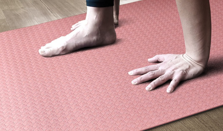 Custom tpe non-toxic non-slip durable yoga mat durable/latex-free non-skid exercise fitness mat