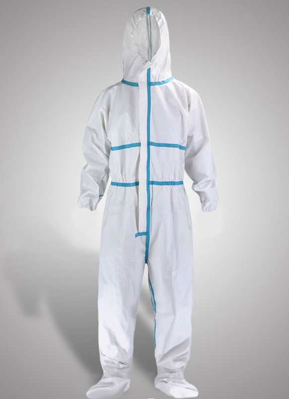 Customized CE Medical Disposable Isolation Clothing, Microporous coronavirus protective coverall suit