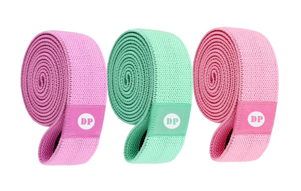 Customized Color Fitness Exercise Fabric resistance Bands booty bands made in China