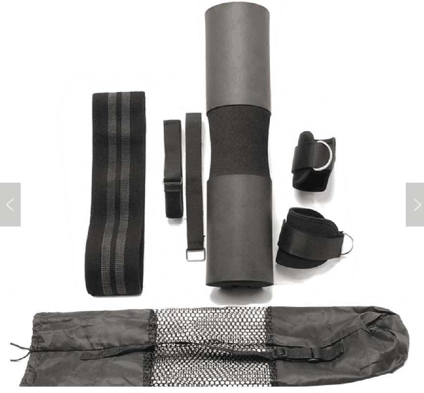 Customized Weightlifting Foam Barbell Neck Squat Pad set / Hip Circle Bands / Ankle Strap