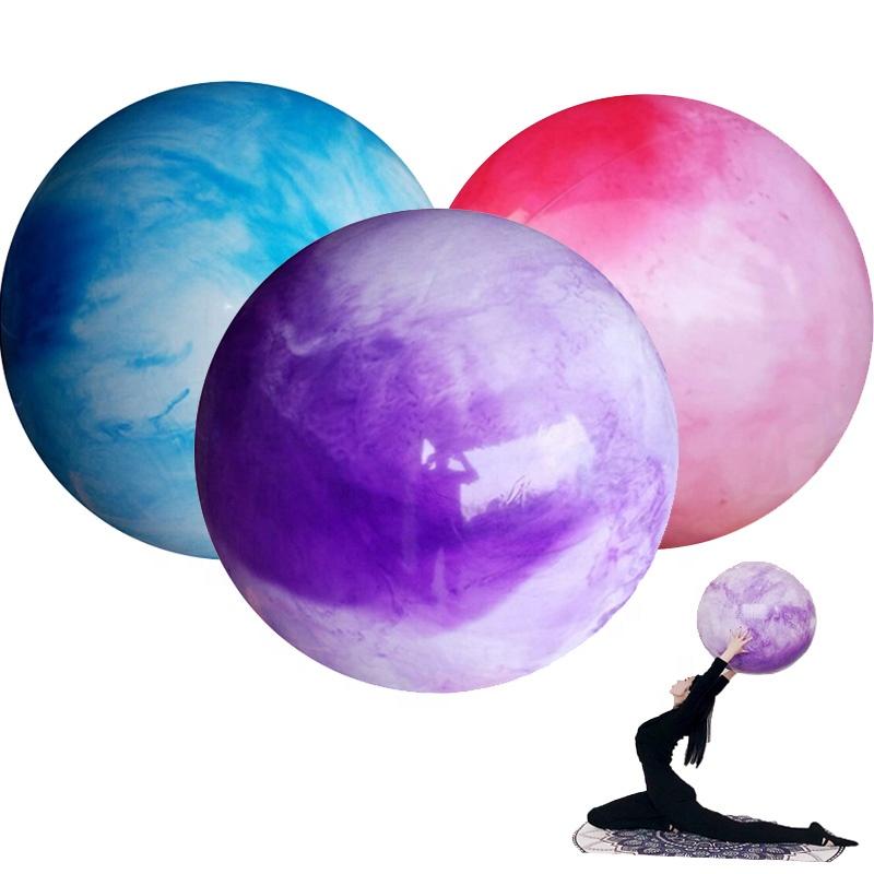 Customized logo pvc Yoga Ball inflatable Massage Ball Gym Ball