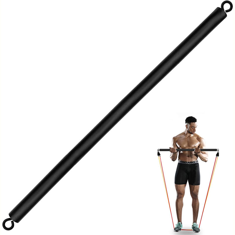 Detachable Resistance Bands Bar Chest Weighted Workout Bar Stick for Gym, Fitness, Home & Travel Men and Women Full Body Workout Bar