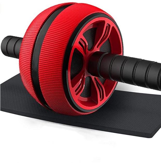 Durable ab wheel roller with mat fitness exerciser abdomonal ab wheel