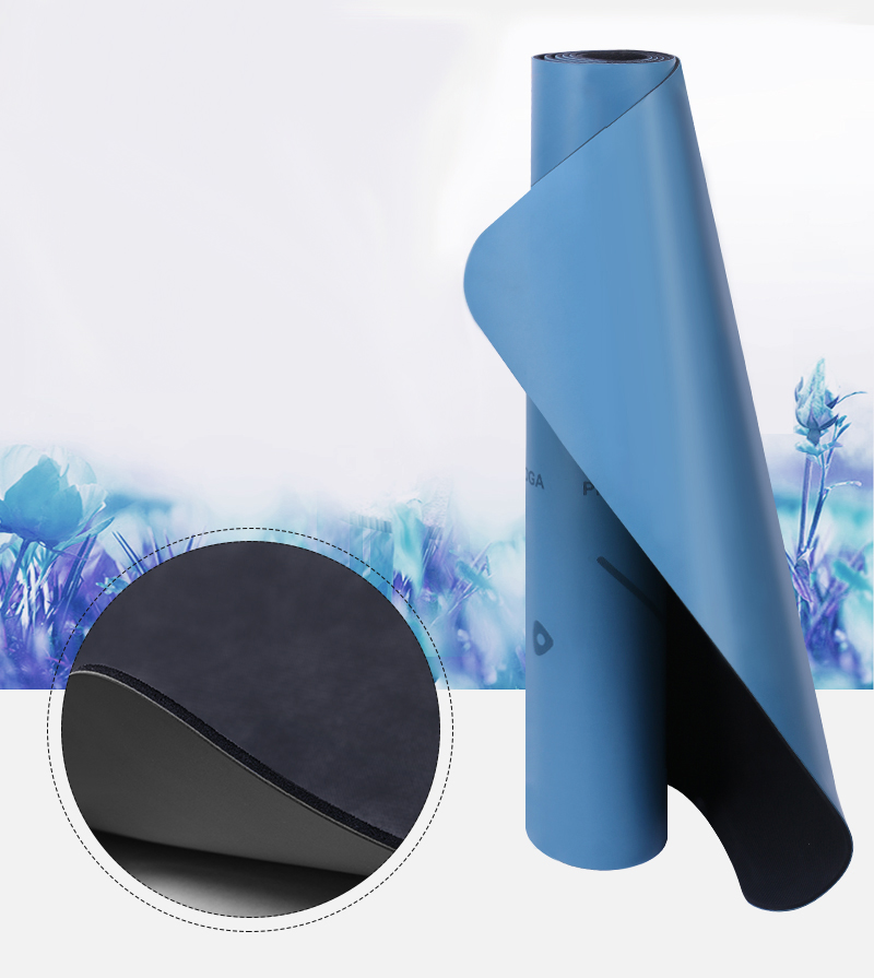 ECO 66CM wide PU natural rubber yoga mat set with bodyline manufacture