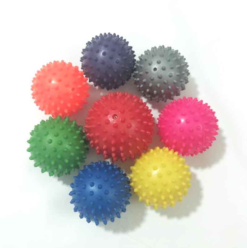 Eco-Friendly PVC Spiky Massage Ball Small body Exercise massage Ball