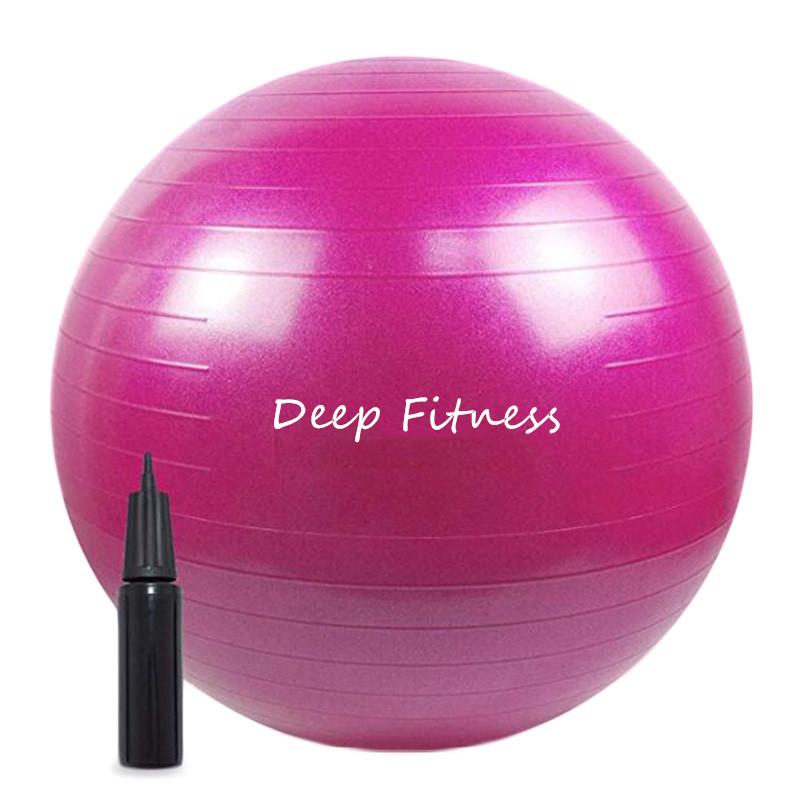 Exercise ball with pump custom printed color scrub yoga ball