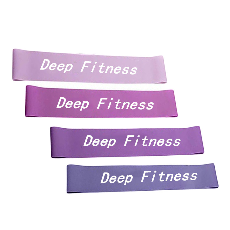 Exercise set resistance loop band stretch band loop