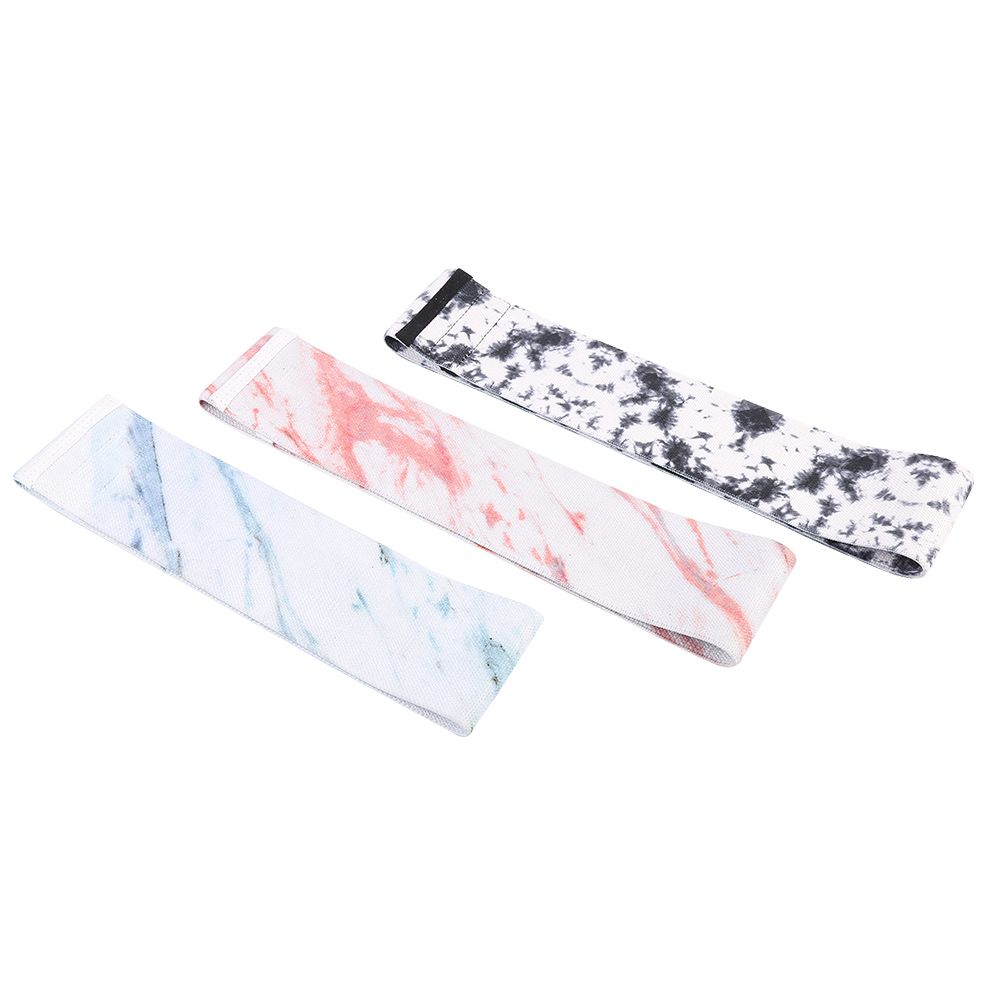 Fabric elastic workout resistance bands/ Gradient booty bands for women/ Fitness leopard hip exercise bands set