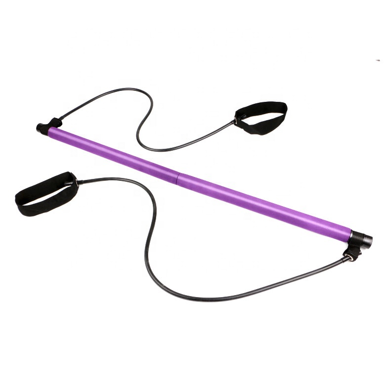Gym Fitness Exercise Pilates Workout Resistance Band Bar