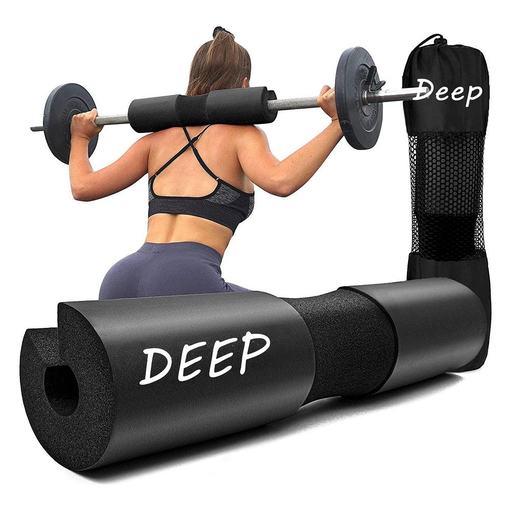 Gym fitness Non Slip Custom logo Barbell Pad PU Eva Foam Squat Pad Neck & Shoulder Protective Pad