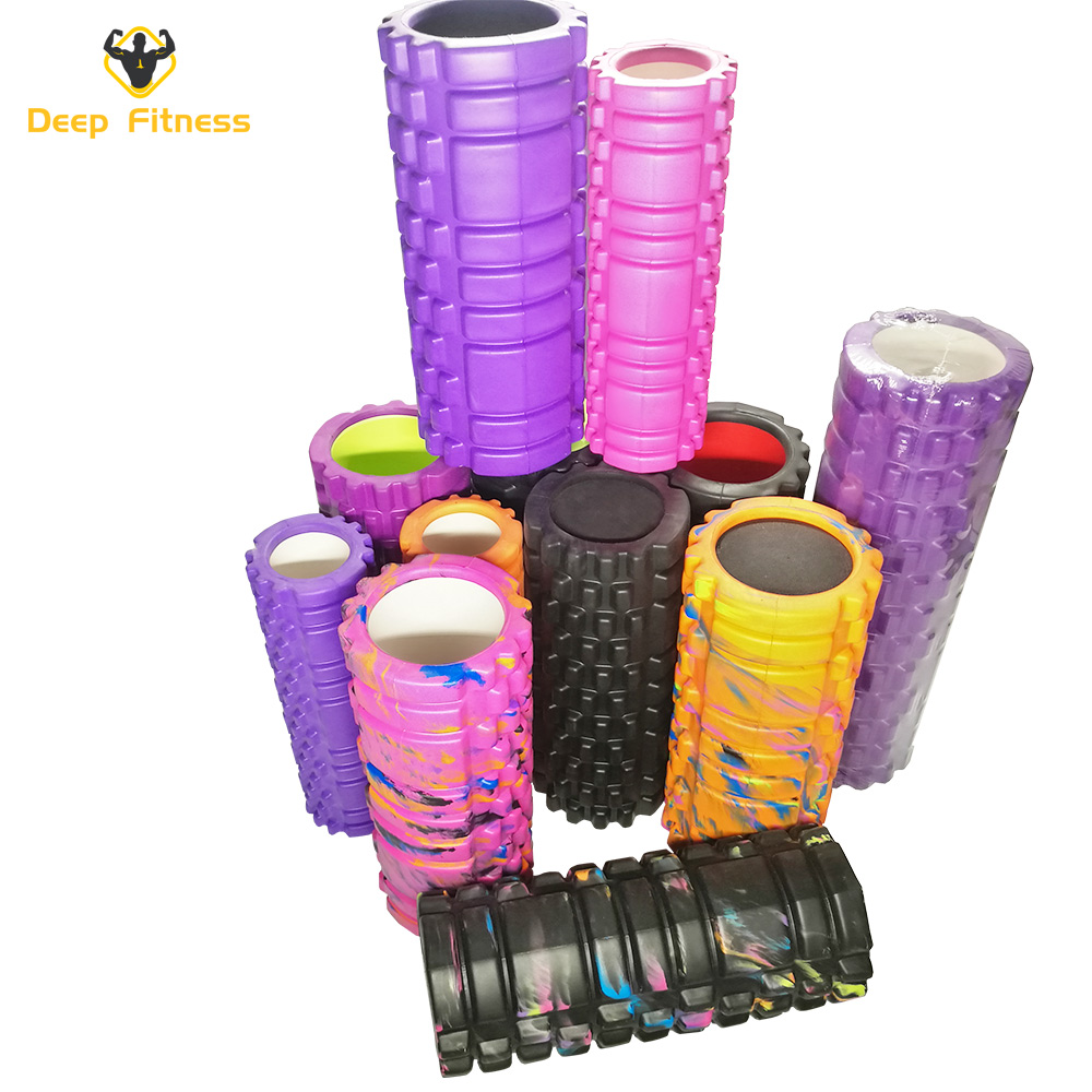 High Density Speckled Black Foam Rollers for Myofascial Release/Pilates/Trigger Point Massage/Muscle