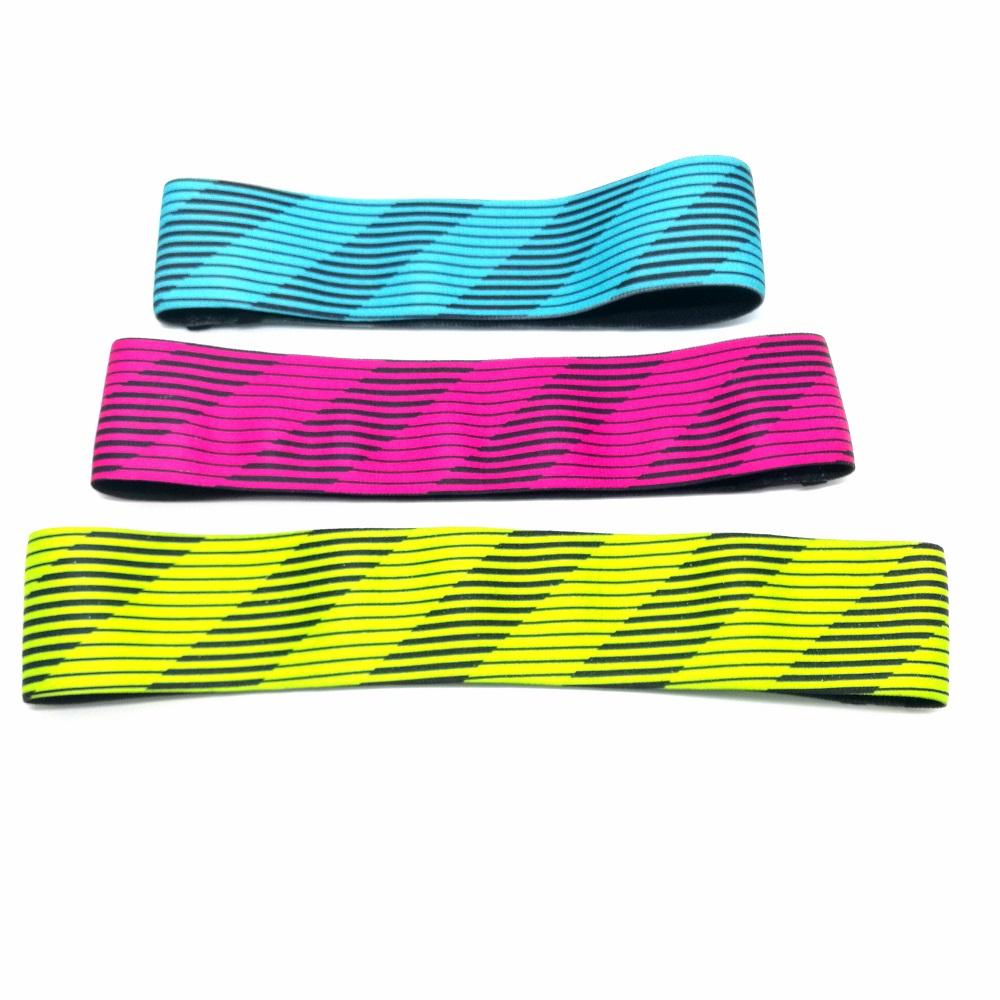 High fabric elastic hip booty band / custom printed resistance band / hip circle set band Hip Bands / Workout Bands