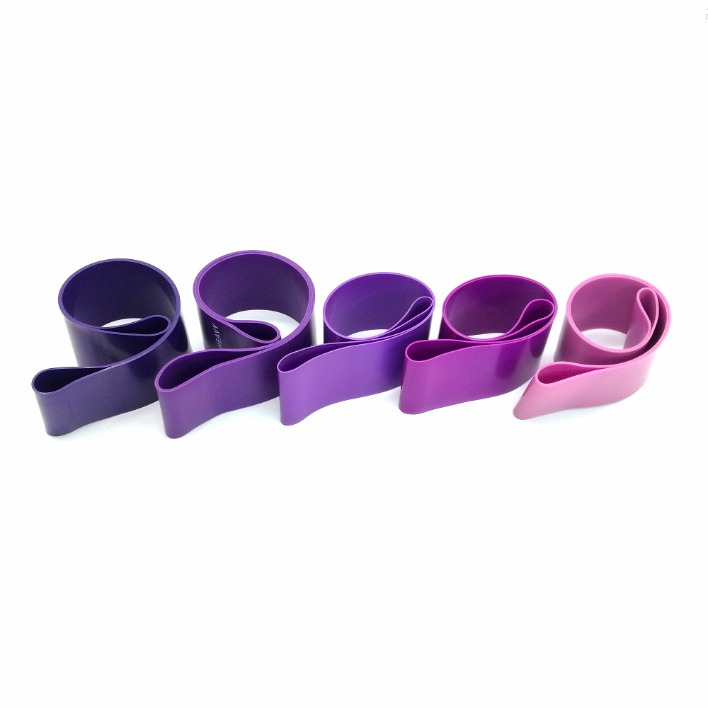 High quality exercise fitness mini latex yoga custom printed logo resistance band set/ loop resistance bands
