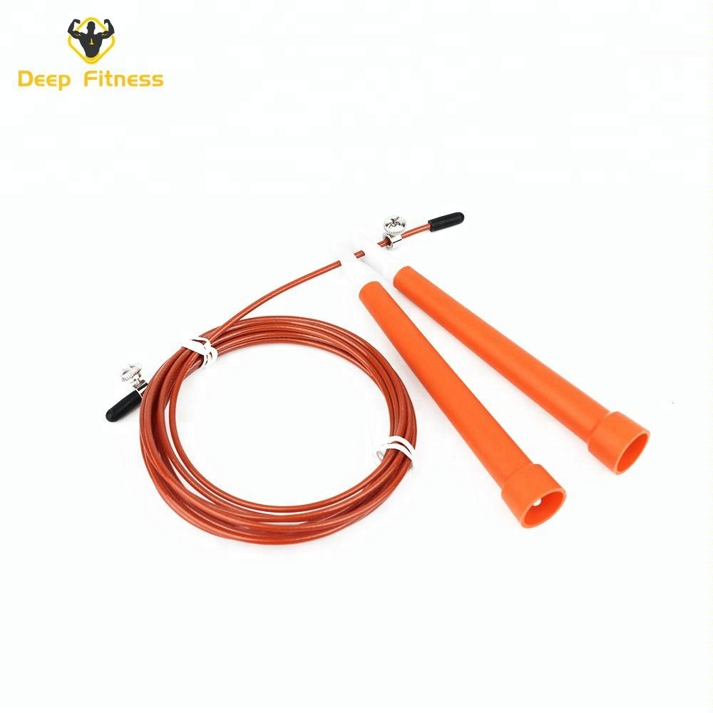 Hot sale plastic handle steel wire jump rope skipping rope