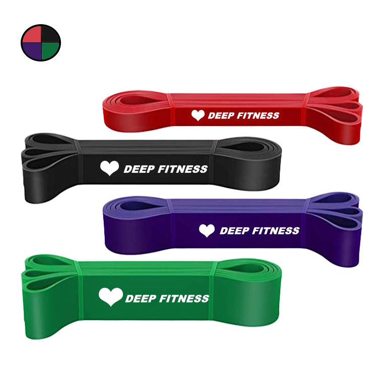 Natural latex resistance bands for home gym power band loop set natural latex