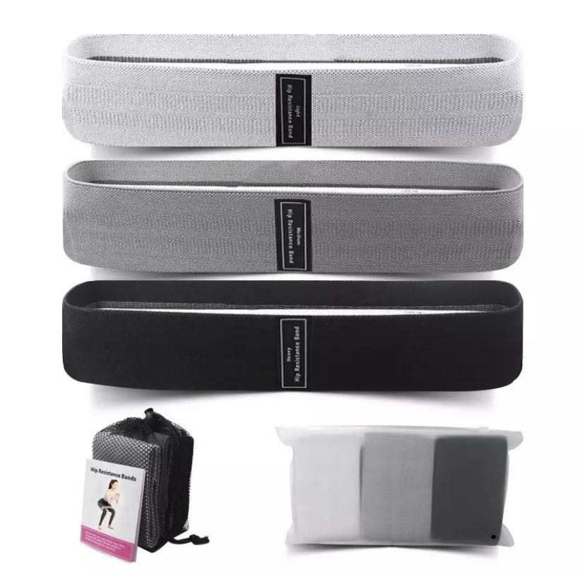 Non Slip Custom Logo Booty Bands Fabric Hip Resistance Band Multi Colors Circle Elastic Band Fitness Exercise