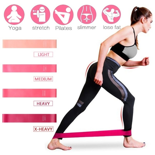 Pack 4 Elastic band fitness resistance exercise bands workout bands wholesale