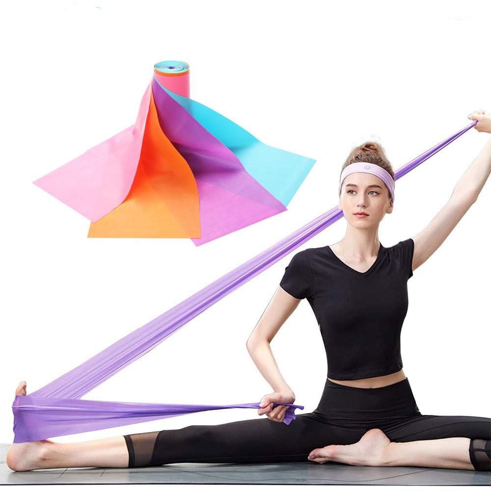 Pilates Exercise Bands, Latex Resistance Belt, Yoga Stretch Band, Theraband