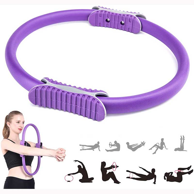 Pilates Ring Fitness Magic Circle 15 Inch Pilates Exercise Resistance Full Body Toning Thighs Rings for Women Yoya, Body Sculpting, Strengthening Abs, Legs
