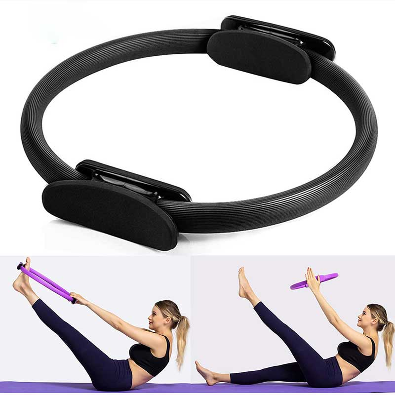 Pilates Ring Magic Fitness Circle 15 inch Home Workout Exercise Resistance Ring for Women, Yoga Circle