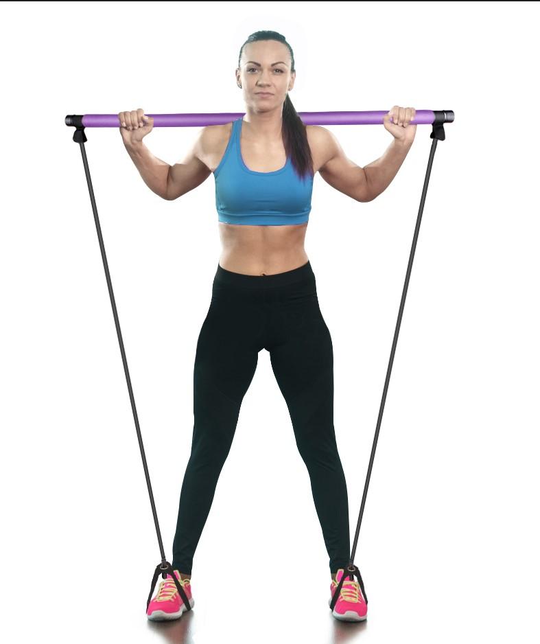 Portable Pilates Fitness Tool stick Exercise Portable Pilates/ Toning Bar