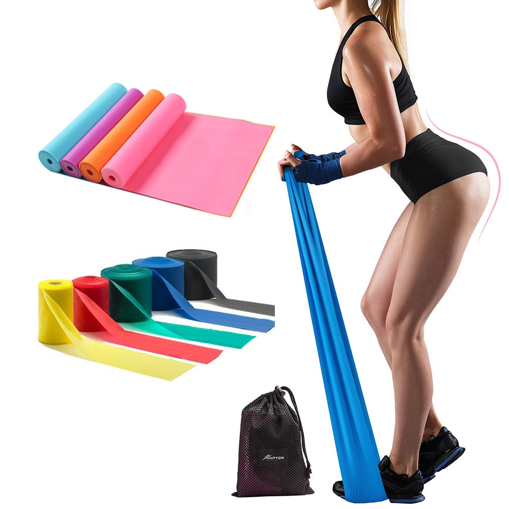 Resistance Bands, Professional Non-Latex Elastic Exercise Bands, 5 ft. Long Stretch Bands for Physical Therapy, Yoga, Pilates, Rehab, at-Home or The Gym Workouts, Strength Training