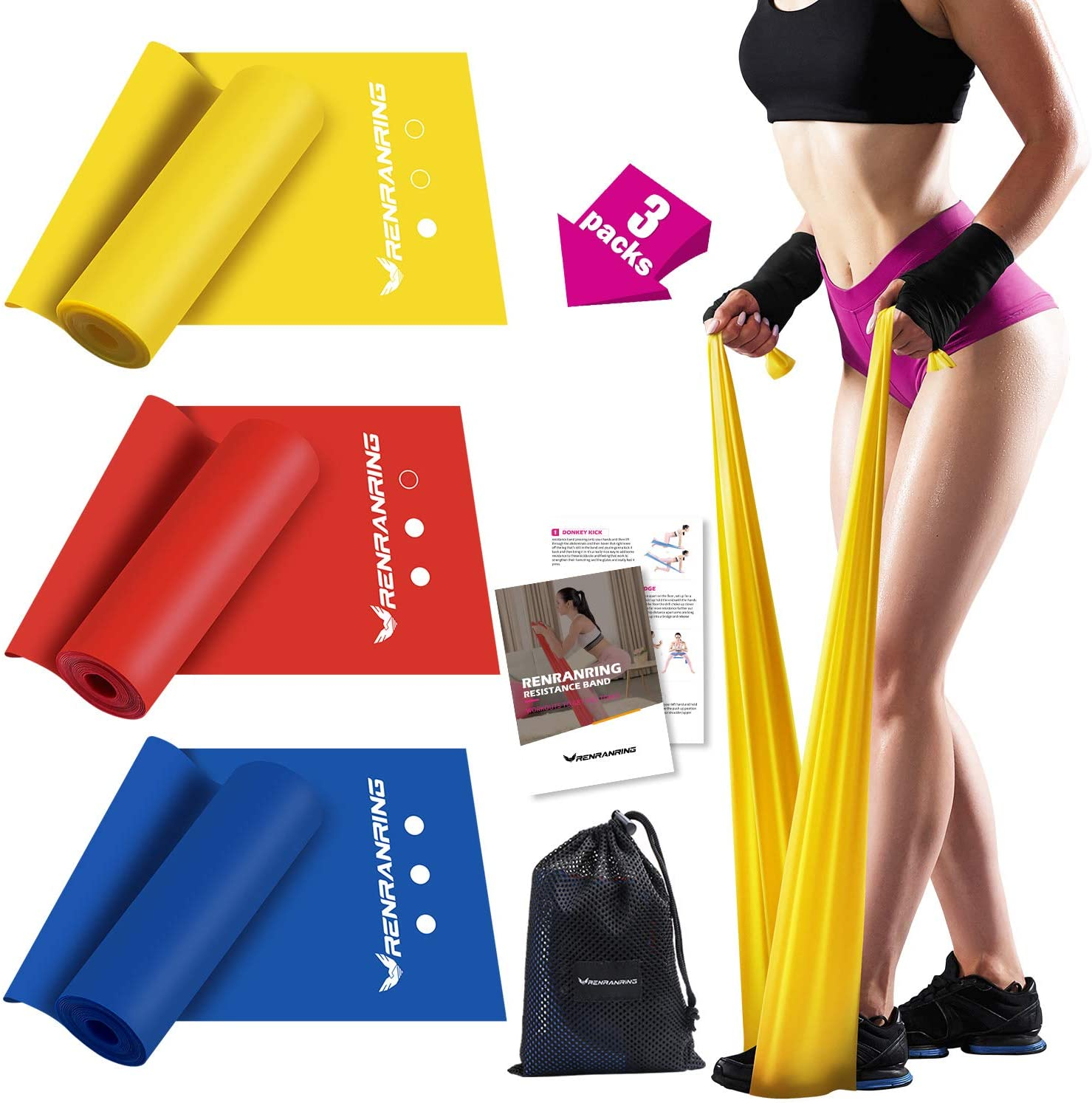 TPE / Latex Yoga Band Exercise Rubber Resistance Workout Fitness Theraband
