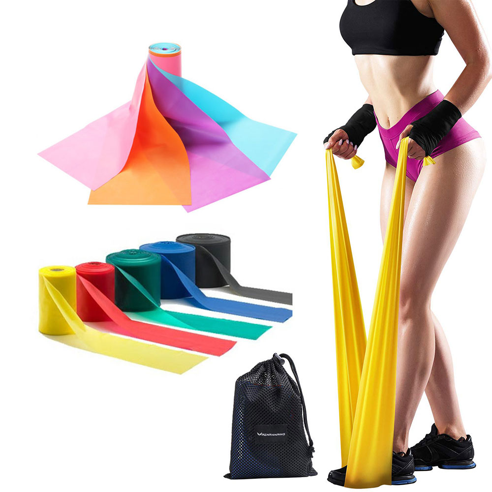 TPE / Latex yoga band, Exercise Rubber resistance band, Workout fitness theraband