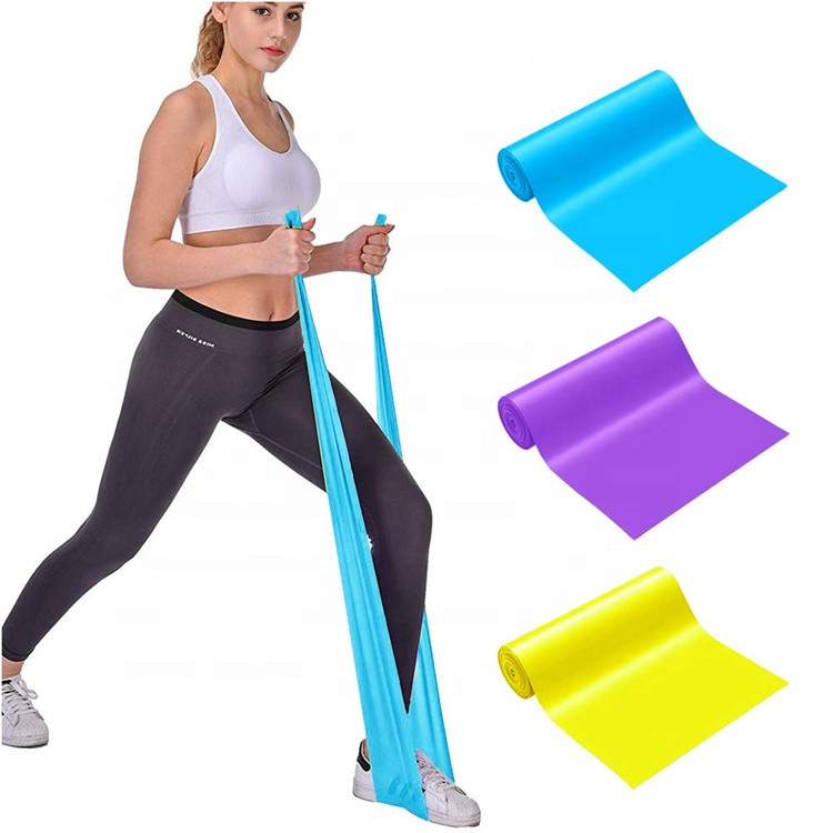 TPE factory pilates exercise TPE green resistance bands for therapy yoga stretch theraband